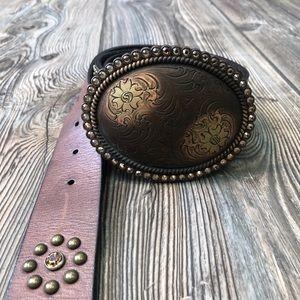 "Nocona ""Cowgirl"" Brown Leather Belt Medium"